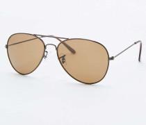 Klassische Pilotensonnenbrille in Braun