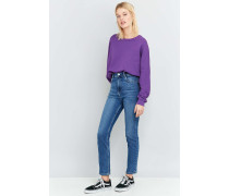 HighWaistGirlfriendJeans in Hellblau