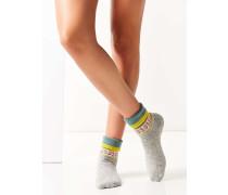 Kuschelige Socken in grauem Folkloredesign