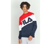 """Sweatshirt """"Nate"""" in Rot und Marineblau mit Rundhalsausschnitt"""