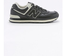"Sneaker ""574"" aus Leder in Schwarz"