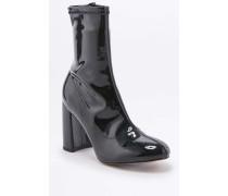 """Elastische Ankle Boots """"Kourtney"""" aus Lackleder in Schwarz"""