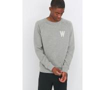 """Sweatshirt """"Wade"""" in Grau mit Rundhalsausschnitt"""