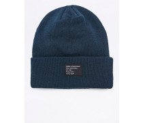 "Beanie ""Watch"" in Marineblau"
