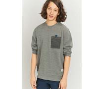 """Sweatshirt """"Elkhead"""" in Grau mit FleeceTasche"""
