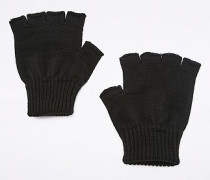Fingerlose Handschuhe in Schwarz