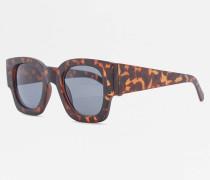 Quadratische Sonnenbrille in matter SchildpattOptik