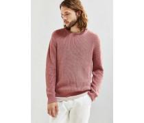 Klassischer Pullover in Rosa mit Rundhalsausschnitt