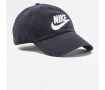 """Cap """"Futura"""" in verwaschenem Schwarz mit weißem Logo"""