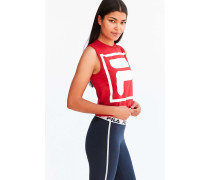 "Crop Top ""Fiesta"" in Rot mit Logo"