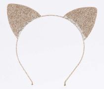 Funkelnde Katzenohren mit Glitter