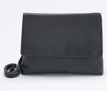 Clutch aus Leder in Schwarz