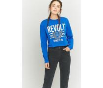 """Kurzes Longsleeve """"Revolt"""" in Blau"""