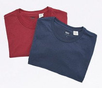 TShirts in Marineblau und Burgunderrot im Set