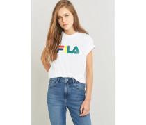 """TShirt """"Kate Linear"""" in Weiß mit Logo"""