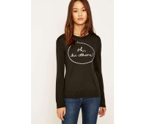 "Urban Outfitters  Pullover ""Oh Hi There"" in Schwarz"