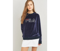 """Sweatshirt """"Cassio"""" aus Velours in Blau"""