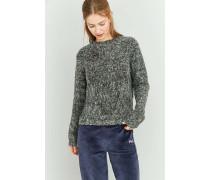 Pullover in Grau mit Kreuzstrickmuster