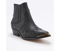 """Ankle Boots """"Tina"""" im Westernstyle in Schwarz"""