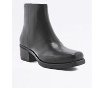 """Ankle Boots """"Ariana"""" aus Leder in Schwarz mit eckiger Zehenpartie"""