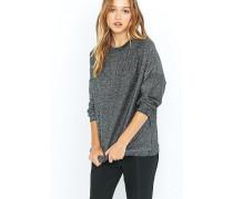 OversizedSweatshirt aus Lurex in Schwarz