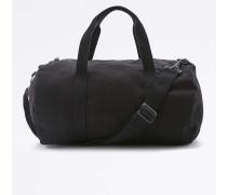Kleine Sporttasche aus Leinen in Schwarz