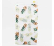 Brillenetui aus Plastik mit Ananasprint