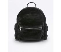 Kleiner Rucksack aus Kunstfell