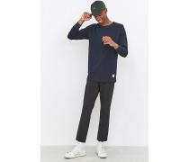 """Sweatshirt """"Midland"""" in Marineblau mit Rundhalsausschnitt"""