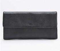Geldbörse aus Leder in Schwarz