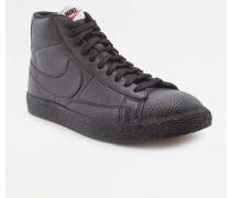 "Sneaker ""Blazer"" aus gewalktem Leder in Schwarz"