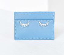Kartenetui in Blau mit blinzelndem Augenmotiv