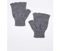Fingerlose Handschuhe in Grau