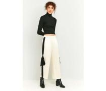 Gerade Hose mit seitlichen Streifen und Schleifen