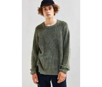 Moderner Pullover in braunem UsedLook