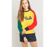 Sweatshirt im ColourBlockDesign mit Raglanärmeln