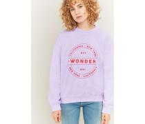 """Sweatshirt """"Wonder"""" in Lila mit Rundhalsausschnitt"""