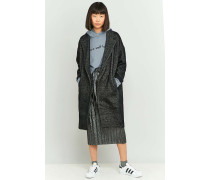 Strukturierter Mantel in Grau