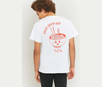 "TShirt ""Udon Know Me"" in Weiß"