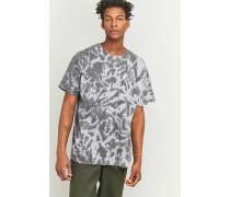 UO  OversizedTShirt in Grau mit Batikoptik