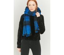 Karierter Schal in strahlendem Blau