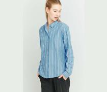 Urban Outfitters  Gestreiftes Hemd in Blau mit Knopfleiste