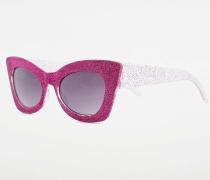 KatzenaugenSonnenbrille mit Glitter