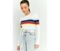 Urban Outfitters  Pullover mit Blockstreifen in Regenbogenfarben