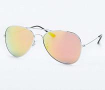 Pilotensonnenbrille in Silber mit RevoGläsern