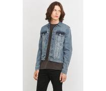 BasicJeansjacke in blauem ColourBlockDesign