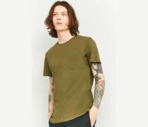 Pocket TShirt im BasicStyle in Khaki