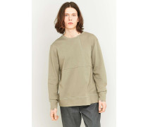 "Asymmetrisches Sweatshirt ""Simon"" in Moosgrün"