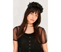 Haarband im Blütenkronendesign in Schwarz