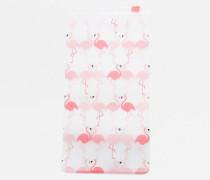 Brillenetui aus Plastik mit Flamingoprint